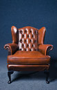 Old leather armchair Stock Image