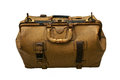 Old leather suitcase isolated Royalty Free Stock Photo