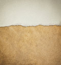 Old leather texture background pattern and vintage torn paper Stock Image