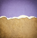 Old leather texture background pattern and vintage torn paper Stock Photo
