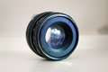 Old lens worn out prime for slr type camera Stock Photo