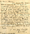Old letter handwriting detail Royalty Free Stock Photo
