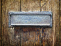 Old letterbox at a front door Royalty Free Stock Photos
