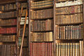 Old library with ladder Royalty Free Stock Photo