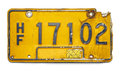 Old License Plate Royalty Free Stock Photo