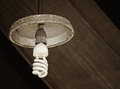 Old light bulb hang on ceiling Stock Photos