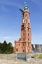 Old lighthouse at bremerhaven simon löschen turm the the harbor of Stock Images