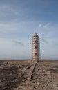 Old lighthouse carribean beach bonaire island Royalty Free Stock Image