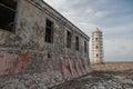 Old lighthouse carribean beach bonaire island Royalty Free Stock Photos