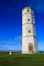 Old lighthouse flamborough the historical at Stock Image
