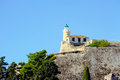 Old lighthouse old fortress city kerkyra corfu greece Stock Image