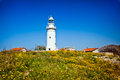The old lighthouse in paphos cyprus Royalty Free Stock Images