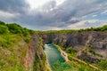 Old lime quarry, Big America (Velka Amerika) near Prague, Czech Republic Royalty Free Stock Photo