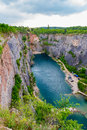 Old lime quarry, Big America (Velka Amerika) near Prague, Czech Republic Royalty Free Stock Photo