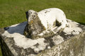 Old Limestone Lamb Memorial Gravestone Royalty Free Stock Photo