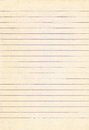 Old lined notebook paper background. Royalty Free Stock Photo