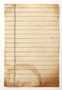 Old lined paper isolated on a white Stock Photos