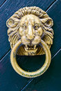 Old lion door knocker Royalty Free Stock Image