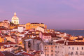 Old Lisbon at Sunset Stock Image