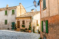 Old little house an in montefabbri a village in the italian marches Stock Image