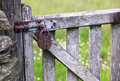 Old Lock on a Gate Royalty Free Stock Photo