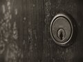 Old lock rusty door shallow dof Royalty Free Stock Photos