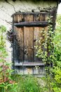 old locked door in house Royalty Free Stock Photo