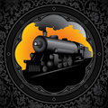 Old locomotive background. Royalty Free Stock Image