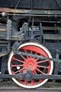Old locomotive wheel Royalty Free Stock Photo