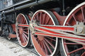Old locomotive wheels Royalty Free Stock Photo