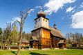 Old log church Royalty Free Stock Photo