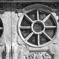 Old londo n door in england and wood ancien abstract hinged london Stock Images