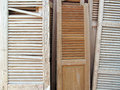Old Louvered Shutters Royalty Free Stock Photo