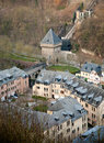 Old luxembourg houses in grund Royalty Free Stock Images
