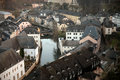 Old luxembourg houses in grund Royalty Free Stock Photography