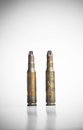 Old machine gun bullets Royalty Free Stock Photo