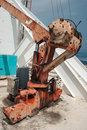Old machinery building pattaya tower Royalty Free Stock Images