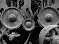 Old machinery with gears Royalty Free Stock Images