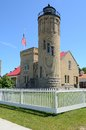 Old Mackinac Point Lighthouse in Mackinaw City Michigan Royalty Free Stock Photo