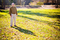 Old Man in a Field Royalty Free Stock Photo