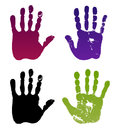 Old man four hand prints Royalty Free Stock Photos