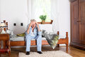 Old man with headache Royalty Free Stock Photo