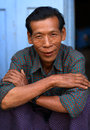 Old man in mandalay burmese myanmar Royalty Free Stock Photography
