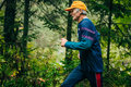 Old man runs zlatoust russia august during mountain marathon race for the clouds zlatoust russia august Royalty Free Stock Photo