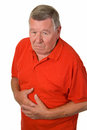 Old man with stomach ache Stock Images
