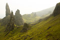 Old man of storr intrusive outcrop known as the isle skye scotland Royalty Free Stock Images