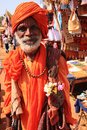 Old man traditionally dressed India Stock Image