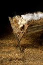 Old Manger with Swaddling Clothes Royalty Free Stock Photo