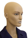 Old manikin head of faded shop mannequin against a white background Stock Photography