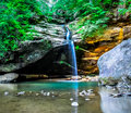 Old Mans Cave Lower Falls Royalty Free Stock Photo
